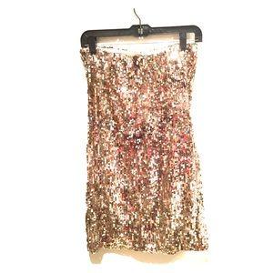 Arden B Sequin Strapless Dress